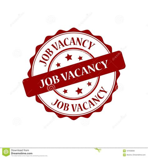 job vacancy stamp illustration stock vector illustration