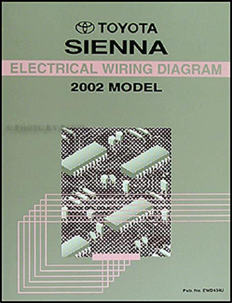 Toyota Sienna Van Electrical Wiring Diagram Manual Ebay