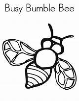Bee Coloring Bumble Printable sketch template