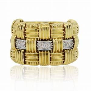 roberto coin appassionata 18k yellow gold diamond ring With roberto coin wedding rings