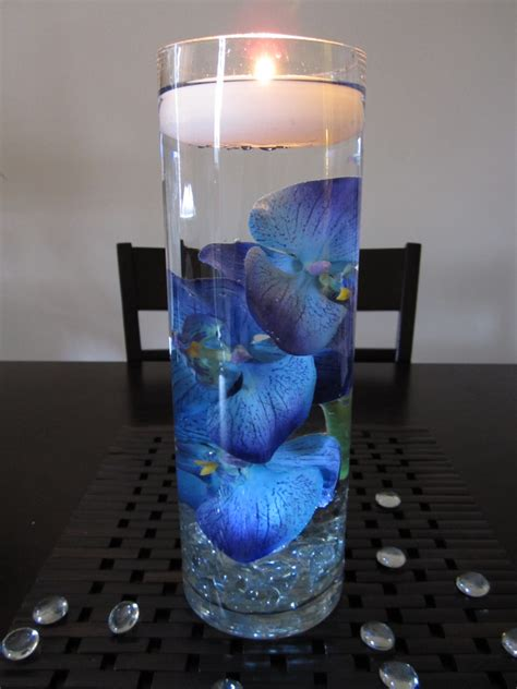 Beautiful Blue Wedding Candle Centerpieces Ipunya