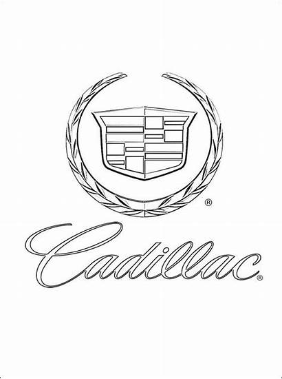 Cadillac Coloring Pages Printable Drawing Ausmalbilder Emblem