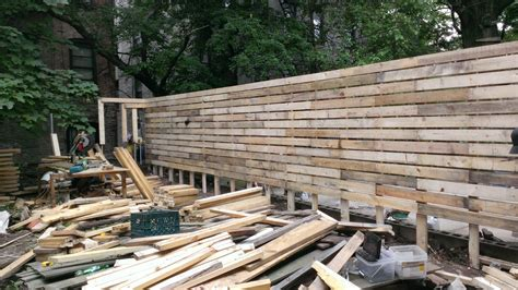 crown heights project  salvaged material fence eco