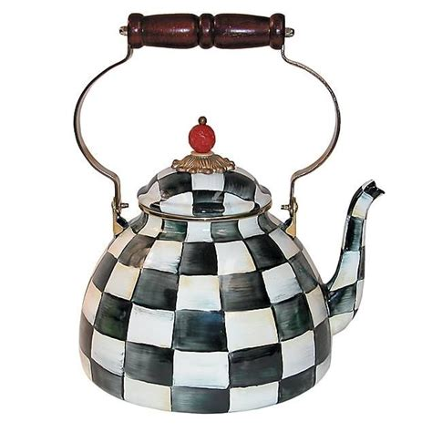 Kitchen Living Tea Kettle by Courtly Check Enamel Tea Kettle A Signature