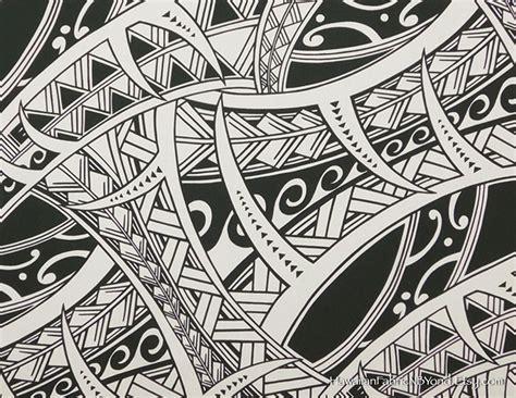 polynesian tattoo fabric tapa hawaiian cotton fabric