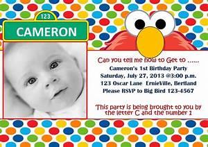 free printable elmo 1st birthday invitations template With elmo template for invitations