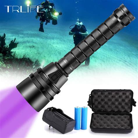 uv light diving flashlight xuv flash light led torch underwater  dive flashlight scuba