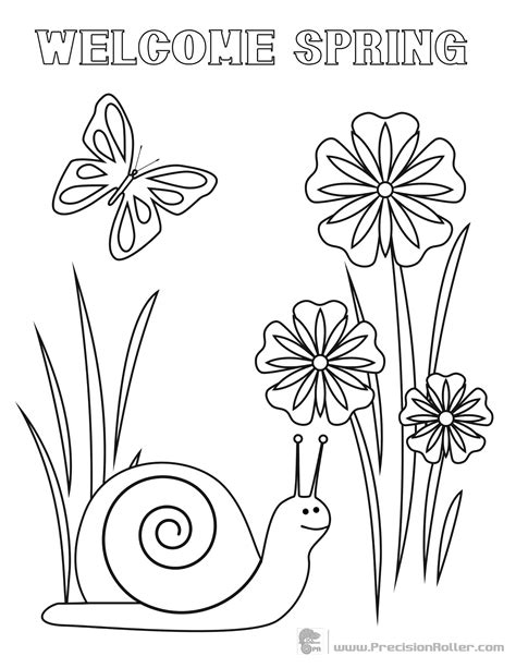 Spring Coloring Pages Learny Kids