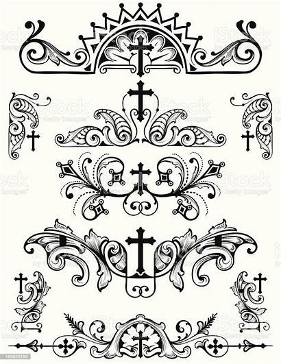 Symbols Christian Cross Religion Coloring Printable Vector