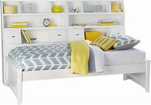 Ivy League White 5 Pc Full Bookcase Daybed - Full Beds White