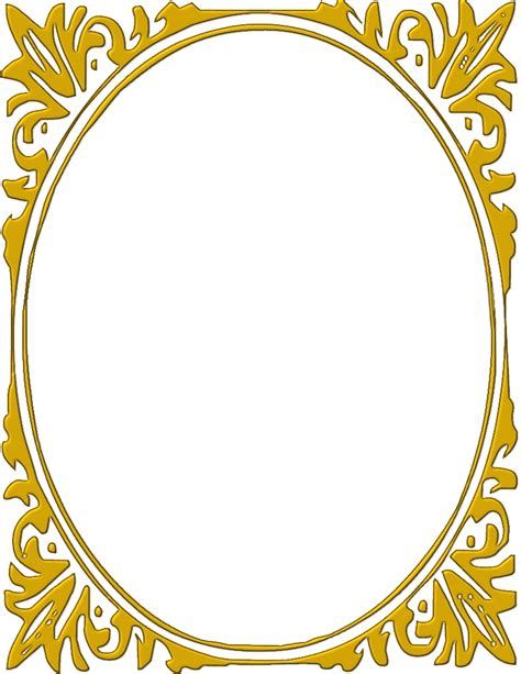 oval mirror frames gold frame clipart free clipartxtras