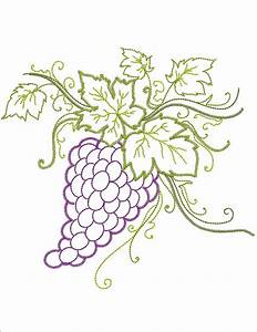 Grapes of Tuscany Machine Embroidery Designs By Sew Swell