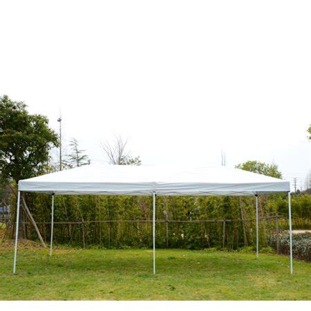 outsunny    pop  canopy shelter party tent  mesh walls beige walmartcom