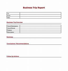 Business trip report template goseqh trip report template 7 free samples examples formats accmission Gallery
