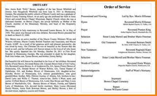 Resume Outline Template 5 Sle Obituary Letter Format For