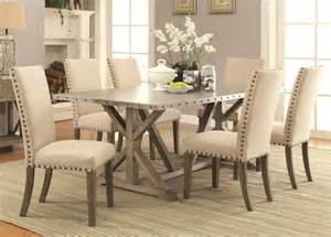 kitchen and dining room furniture coaster furniture 105571 105572 7 pc dining set