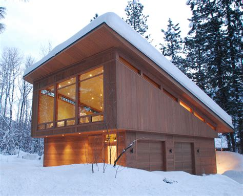 shed roof cabin plans mazama guest cabin modern garage and shed seattle