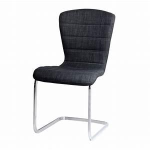 Chaise En Tissu Gris : chaise design tissu gris confort lot de 4 achat vente chaise tissu 100 coton cdiscount ~ Teatrodelosmanantiales.com Idées de Décoration