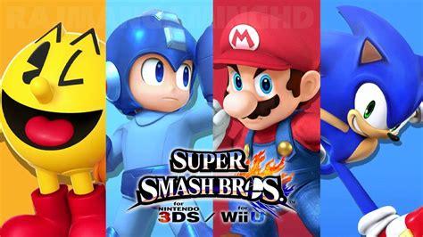Super Smash Bros Wii U Pac Man Vs Mega Man Vs Mario Vs