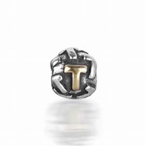 pandora stylish letter t round charm With pandora letter t charm