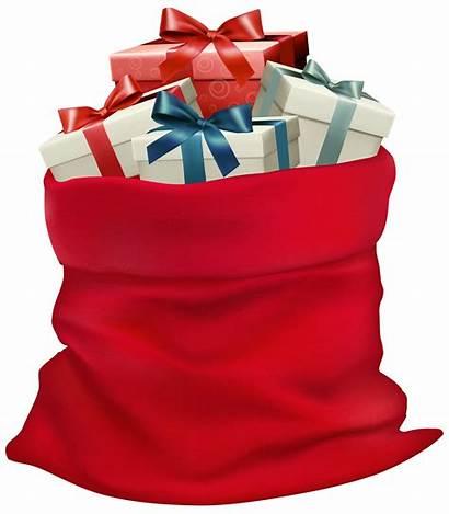 Sack Clip Gifts Clipart Transparent Santa Resolution