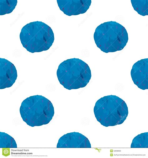 Abstract Shapes Watercolor by Seamless Pattern With Watercolor Abstract Blue Circle