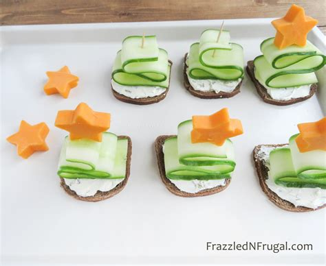 christmas tree appetizers frazzled n frugal