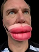 Funny Half Face Big Lips Mask Fat Lip Mouth Cover Adult ...
