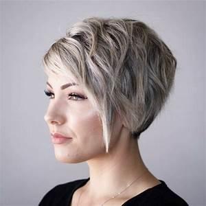 Coupe Courte Avec Meche : coupe courte avec meche plus longue coupes de cheveux ~ Nature-et-papiers.com Idées de Décoration