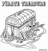 Pirate Coloring Pages Treasure Colouring Chest Printable Adult Colorings Map Template Popular Box sketch template