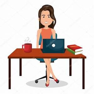 Image Bureau Travail : dessin femme d affaires bureau travail bureau graphique image vectorielle yupiramos 124907568 ~ Melissatoandfro.com Idées de Décoration