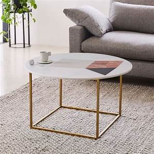 graphic marble inlay round coffee table white west elm With west elm round marble coffee table