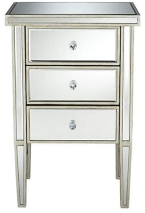 Antique Mirrored Nightstand by Antique Silver 3 Drawer Mirrored Nightstand Contemporary