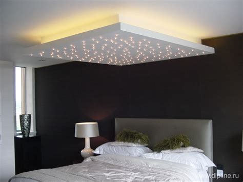 plafond étoilé chambre plafond rétro éclairé avec effet étoilé