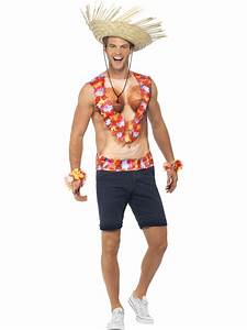 Red Hawaiian Vest Beach Party Luau Fancy Dress Costume ...