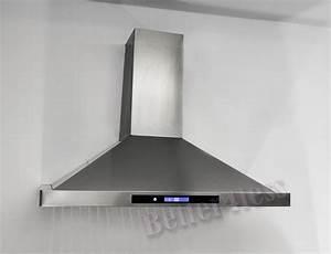 36quot wall mount stainless steel kitchen range hood vent for Kitchen fan hood
