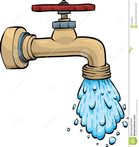 leaky kitchen faucet handle water faucet stock illustration image 41558522