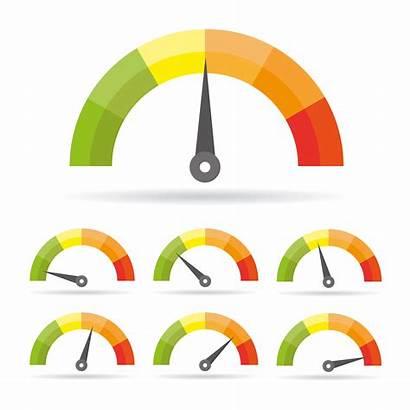 Icon Speedometer Graphic Colorful Tachometer Infographic Symbol