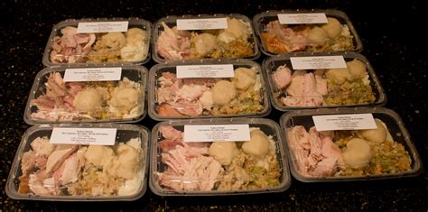 diy tv dinner  calories complete turkey dinner