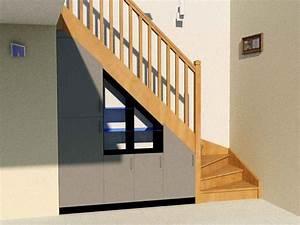 Placard Escalier : am nagement sous escalier quart tournant partie 2 ~ Carolinahurricanesstore.com Idées de Décoration