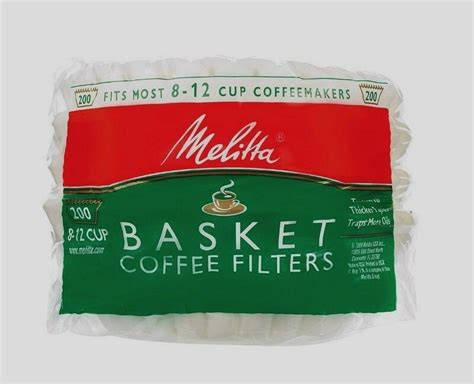 Limited time sale easy return. New 200ct MELITTA Basket Coffee Filters Fits Most 8-12 Cup Makers Brewers 629524 | eBay