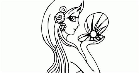 gambar mewarnai putri duyung cantik banget