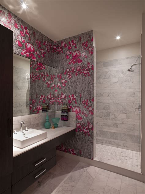 wallpaper in bathroom ideas wallpaper in bathroom