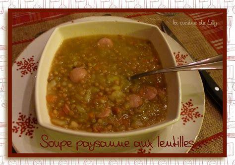 livre thermomix ma cuisine 100 fa輟ns soupe paysanne aux lentilles la cuisine de lilly