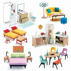 Cubic House Et Grand Pack Mobilier Djeco 17590