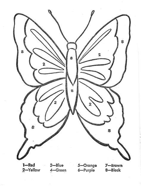 color by number butterfly az coloring pages
