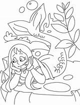 Mermaid Coloring Merman Pages Thinking 56kb 954px sketch template