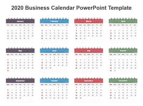 business calendar powerpoint template powerpoint templates