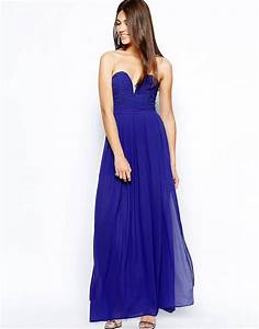 tfnc tfnc maxi dress with plunge bustier at asos With robe bustier asos