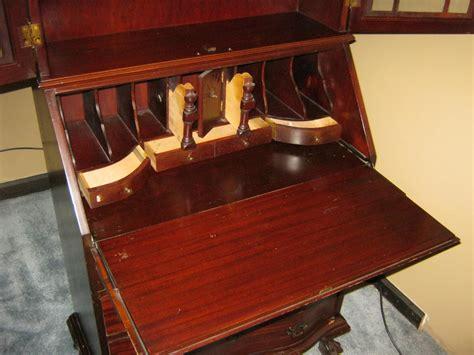 Antique Secretary Cabinet With Drop Down Desk For Sale